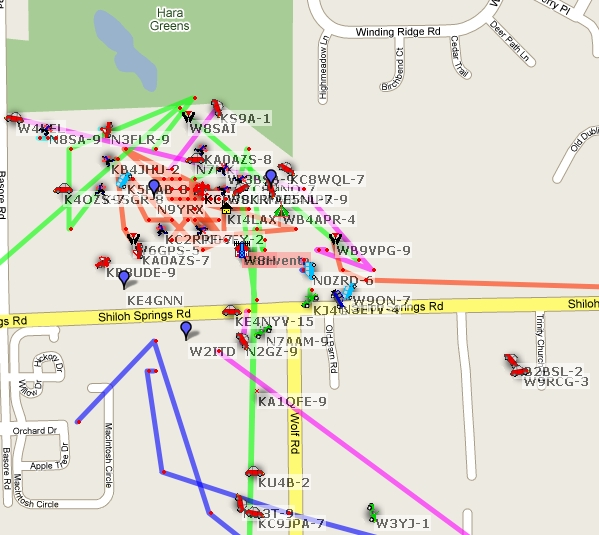APRS traffic jam at the 2009 Dayton Hamvention
